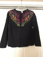 Stylin' Vintage TOGETHER Lace Front Embroidered Blouse++SIZE M++