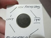 1941 New Foundland Cent Coin