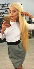 Sexy Kleid Mini stretch Damen Mode Party Freizeit Winter Club Dress XS S M L 34
