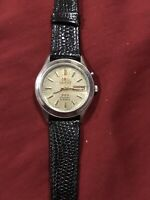 Vintage Orient Automatic Day Date Crystal Dial Wrist Watch ORIGINAL Japan Men's