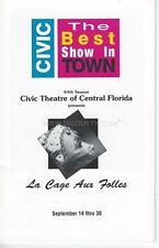 Programme 1990 - 1991  - Civic Theatre Of Central Florida LA CAGE AUX FOLLES