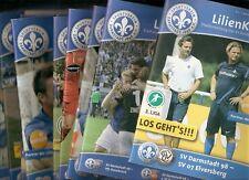 Stadionhefte 2013/2014 SV Darmstadt 98-1 Heft aussuchen 3.Liga-DFB-Lilienkurier