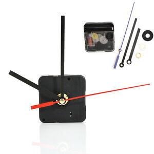 Red Black Silent DIY Clock Quartz Movement Mechanism Hands Replacement Parts Kit