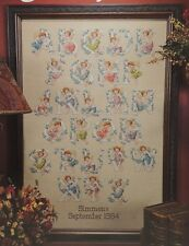 Angel Alphabet Cross Stitch Pattern Booklet by Leisure Arts #2870