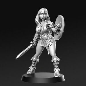 Tabletop Premium Miniatur Kriegerin Artemisia 28mm für Warhammer / AoS / DnD