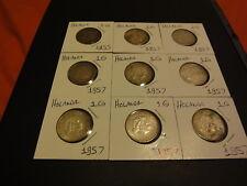 Netherlands 1 Gulden Ten (10) Coins Lot 1955 (2), 1957 (7) and 1965