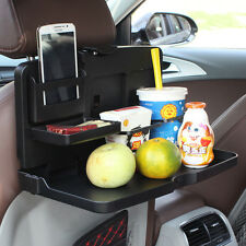 Folding Auto Car Back Seat Table Drink Food Cup Tray Holder Storage Stand Desk