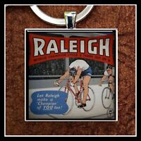 Vintage Raleigh Bicycle Ad Photo Keychain Gift Free Shipping  Bike