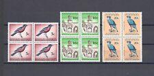 SOUTH AFRICA 1961 SG 214, 217/8 MNH Blocks of 4 Cat £39.80