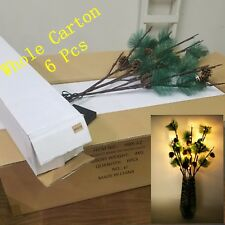 """Whole Pack Clearance (6Pcs) 3x28"""" 36LED Lighted Pine Branches Twig,Xmas,Holidays"""