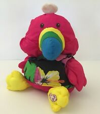 1987 Fisher-Price Wild Puffalumps Toucan Puffalump Plush Toy 8054 Bird Hawaiian