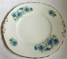 "Vintage Colclough Nigella Azul Floral Sandwich Placa 9 1/4 ""X 8 3/4"" 23cm X 22cm"