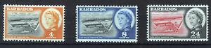 BARBADOS 1961 DEEP WATER HARBOUR SG306/308 MNH