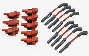 MSD WIRES RED & 8 VMS PRO HIGH OUTPUT PERFORMANCE IGNITION COIL PACKS LS2 LS3 7