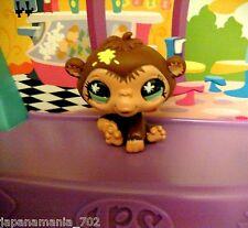 LPS Littlest Pet Shop BROWN MONKEY W YELLOW SPLATS PAINT figure figurine toy