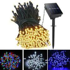 100 200 500LED Solar Power Fairy Lights String Garden Outdoor Party Wedding Xmas