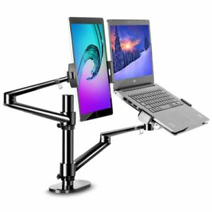 """2 in1 360º turn height adjustable laptop(11-17"""") & Monitor(13-32"""") stand - RB"""