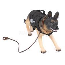 1/6 Scale US Special Forces Police Dog Shepherd Action Figure w/ Leash Vest