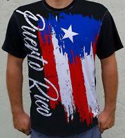 Puerto Rico Distressed Flag Art Front Men's Short Sleeve Basic Tee T-Shirt Gift