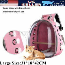 Breathable Cat Pet Parrot Bird Carrier Travel Clear Space Capsule Backpack Bag