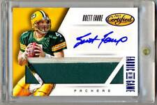 2015 Certified FOTG Signatures Prime BRETT FAVRE Game Used Jumbo Patch Auto 2/5!