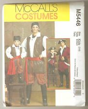 McCall's Sewing Pattern M5446 Boy's Pirate Costumes Coat Vest Pants Sash Sz 3-8