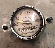 1954 55 56 Harley Hummer 165 White Face Speedometer Gauge Bezel