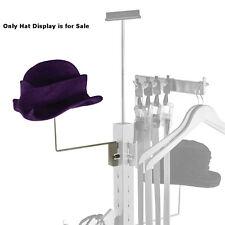 "Retail Satin Nickel Metal Hat Display Hat Holder 10""D x 9.75""H"