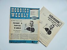 Hobbies Weekly with A Novel Table Pattern June 18th  1958 n. 3268