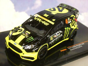 IXO 1/43 FORD FIESTA RS WRC #46 2ND MONZA RALLY 2014 VALENTINO ROSSI RAM603