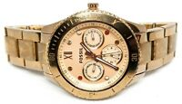 """FOSSIL Rose Gold ES-3211 ES3211 Stella Multifunction watch 6.25"""" jeweled face"""