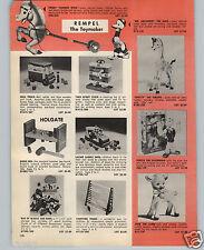 1962 PAPER AD Rubber Rempel Toy Popeye The Sailorman Spotty Giraffe Josie Lamb