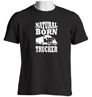 Natural Born Trucker Mens Trucking T Shirt Lorry Driver Truck Cab Accessories