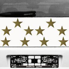 10 Klebesterne 10cm gold Sterne Auto Fenster Aufkleber Tattoo decal Deko Folie