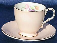 Paragon PINK w/Floral Bouquet DEMITASSE CUP & SAUCER England Vintage