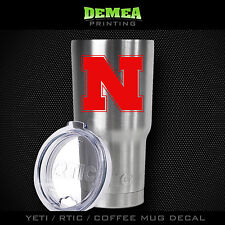 Nebraska Cornhuskers -Yeti/Rtic/Yeti Rambler/Tumbler/Coffee Mug-Decal-Red