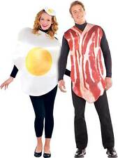 New Mens Ladies Bacon And Egg Breakfast Buddies Couple Funny Fancy Dress Costume