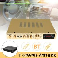 1200W bluetooth Stereo Hifi Verstärker 5 Kanal USB SD Mikrofon Fm Radio Musik