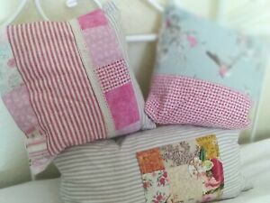 Handmade cushions French pillows vintage style blue pink grey countryside insert