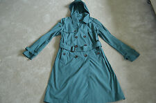 Burberry Prorsum Teal Doubled Breasted Trench Coat Mac Jacket Mens EU 48 Medium