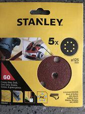 Stanley Sanding Pad Sheet 125mm X5 60grit STA32027