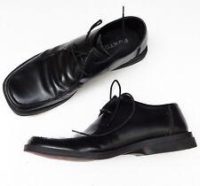 Mens vintage shoes size 10 Burton lace-up black leather square toe