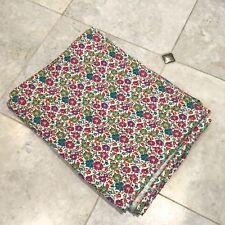Liberty Clarisse Fine Cord Remnant 146cm x 61cm RRP £35/m Floral Green Purple