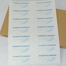10 Planches A4 de 14 étiquettes autocollantes 10,5 x 4,25 cm - spéciales ADRESSE