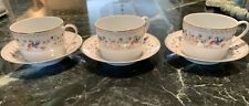 TIFFANY & CO Fine China Limoges France AUDUBON  3 Coffee Cups & Saucers MINT