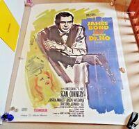 DR NO ORIGINAL HUGE GRANDE CINEMA POSTER LINEN BACKED Sean Connery Bond 007 HUGE