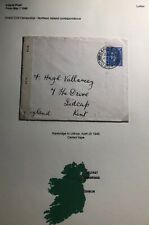 1945 Banbridge North Ireland Civil Censorship Cover To Lidcup England