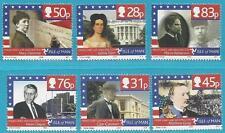 Großb. Isle of Man aus 2006 ** postfrisch MiNr.1301-1306 - Persönlichkeiten USA!