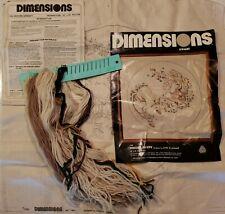 Vtg Dimensions Crewel Kit Unicorn Serenity Embroidery Art 1169 Linda Powell 1980
