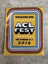 ACL FEST 2018 Weekend 1 LINEUP GUIDE Austin City Limits Festival 101 Brochure